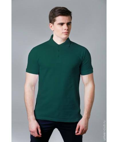 Рубашка-поло мужская темно зеленая