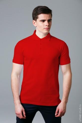 Рубашка-поло мужская красная