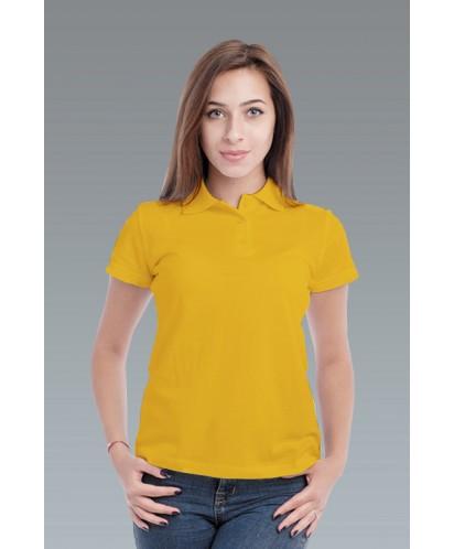 Рубашка-поло женская жёлтая