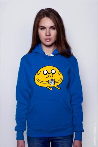Толстовка Adventure Time - Джейк с кружкой