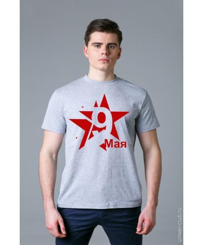 Футболка мужская серая «Звезда»