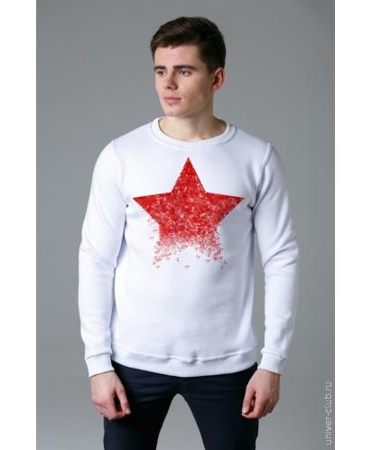 Свитшот мужской белый «Звезда»