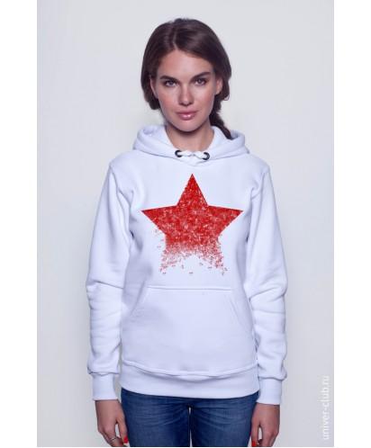 Толстовка женская белая «Звезда»
