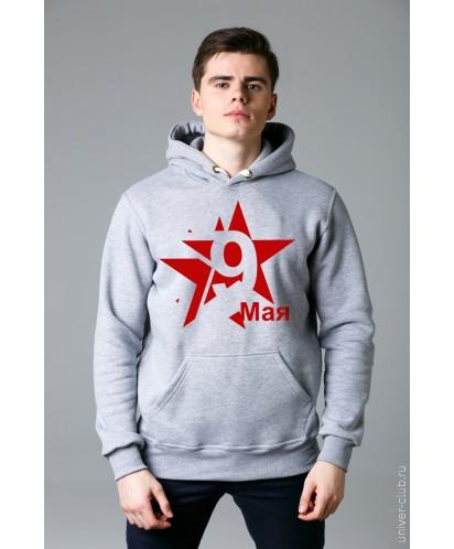 Толстовка мужская серая «Звезда»