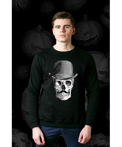 Свитшот унисекс Skull with Bowler Hat
