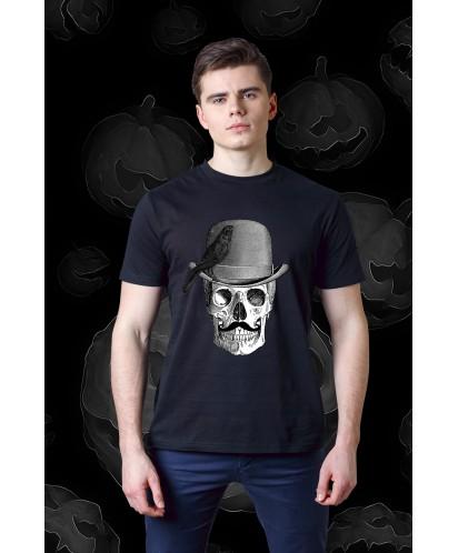 Футболка унисекс Skull with Bowler Hat