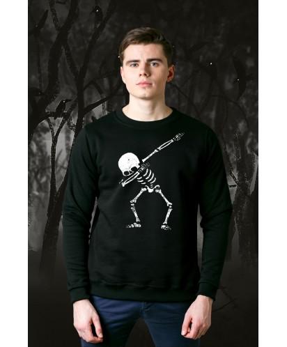 Свитшот унисекс Dabbing Skeleton
