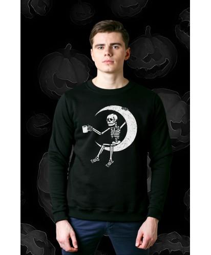 Свитшот унисекс Skeleton on the Moon