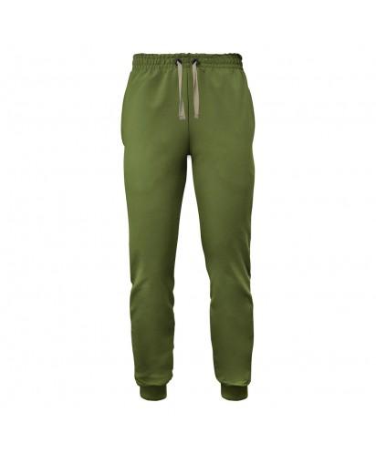 Спортивные штаны хаки (двунитка)
