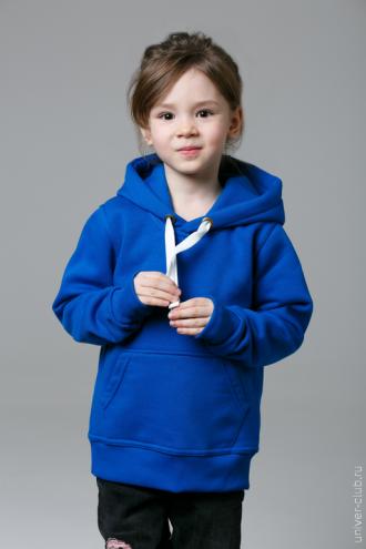 Синяя детская толстовка