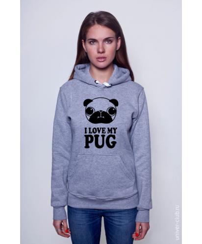 Толстовка I Love My Pug