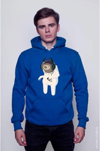 Толстовка «Ленивец-космонавт»