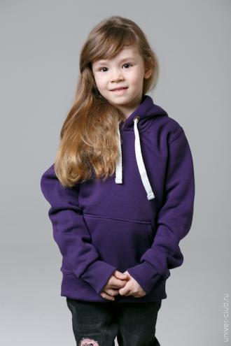 Фиолетовая детская толстовка