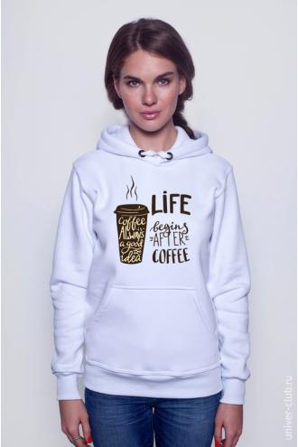 Толстовка Life Begins After Coffee