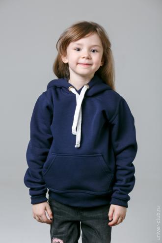 Темно-синяя детская толстовка