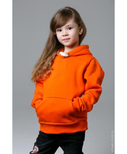 Оранжевая детская толстовка