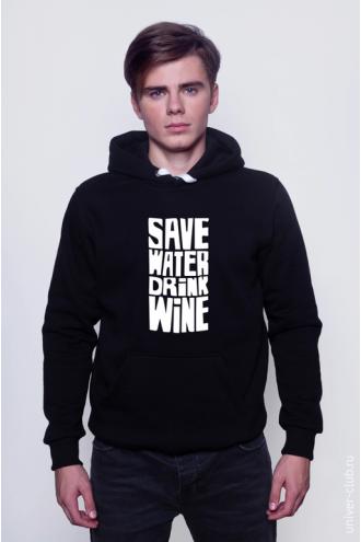 Толстовка Save Water Drink Wine
