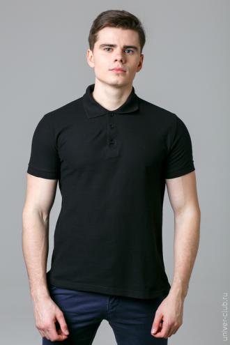 Рубашка-поло мужская черная