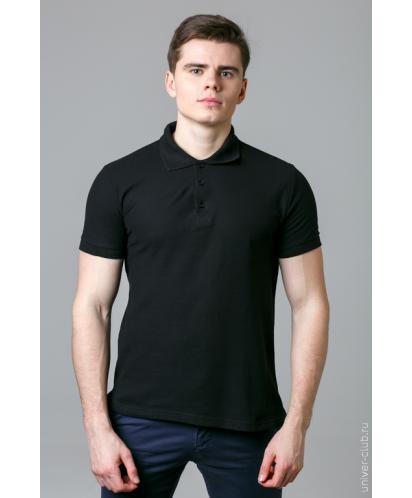 Черная мужская рубашка-поло
