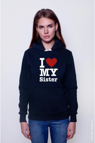 Толстовка I Love My Sister