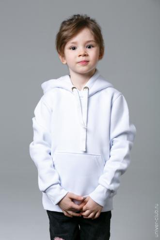 Белая детская толстовка