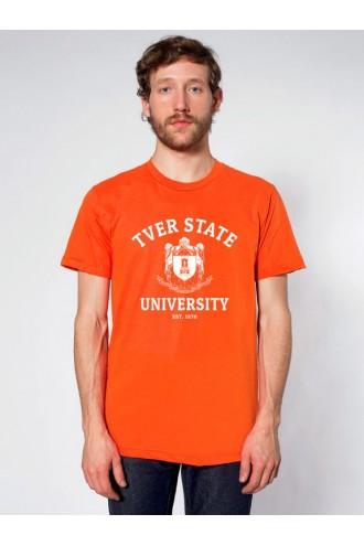 Футболка мужская ТвГУ (ENG) оранжевая