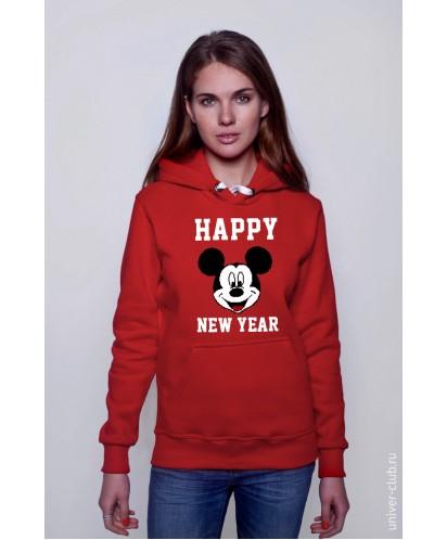 Толстовка унисекс Happy New Year Mickey