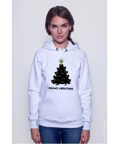 Толстовка унисекс Meowy Christmas