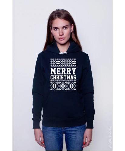 Толстовка унисекс Merry Christmas норвежский узор