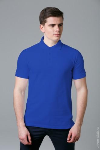 Рубашка-поло мужская синяя