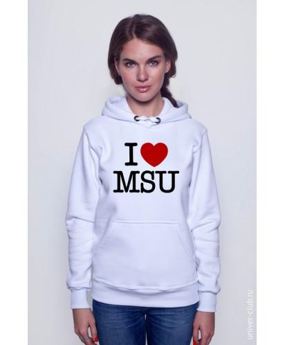 Толстовка I Love MSU