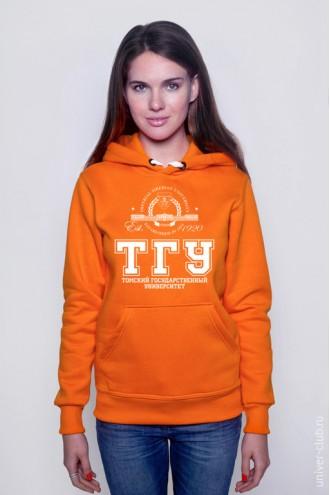 Толстовка женская ТГУ оранжевая