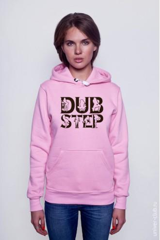 Толстовка женская Dub Step розовая