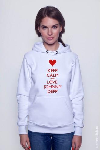 Толстовка Keep Calm And Love Johny Depp