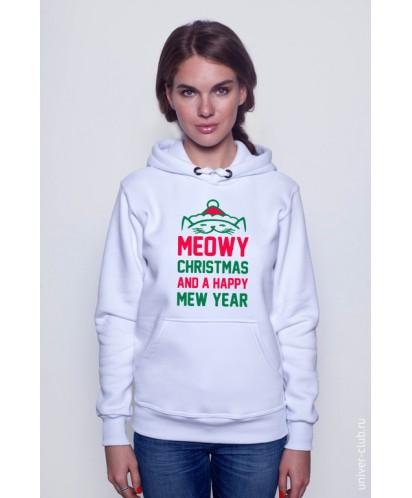 Толстовка Meowy Christmas