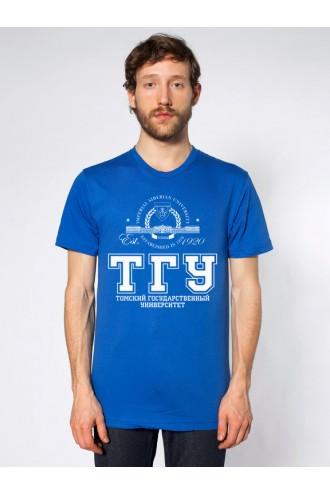 Футболка мужская ТГУ синяя
