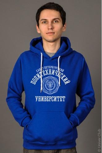 Толстовка мужская СПбГПУ синяя