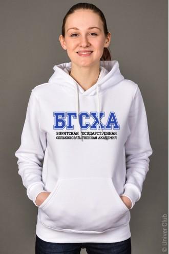 Толстовка женская БГСХА белая
