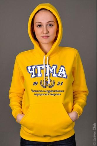 Толстовка женская ЧГМА желтая