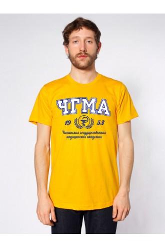 Футболка мужская ЧГМА желтая