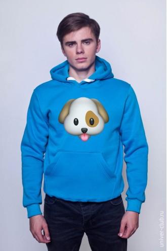 Толстовка Emoji dog